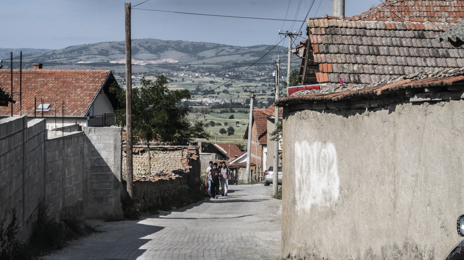 Refugees in the street of Vaksince, FYROM (Republic of Macedonia). 2015