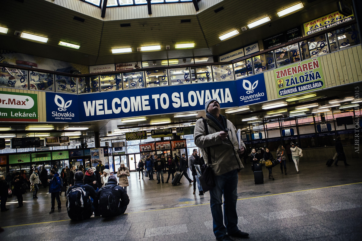 La gare de Bratislava. Slovaquie, 2016.