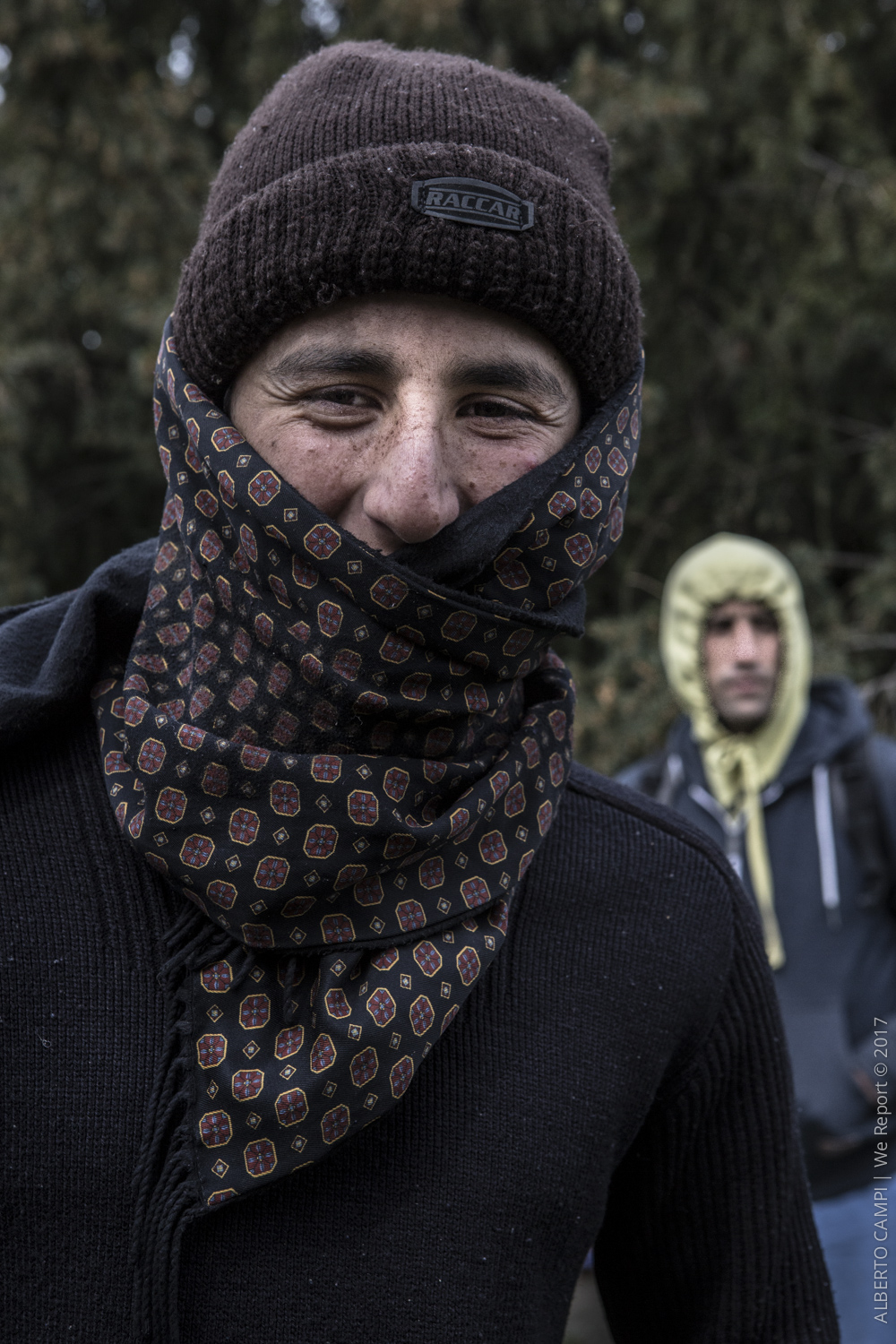 An Afghan refugee just arrived in the city of Subotica. Serbia, March 2015